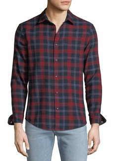 Original Penguin Men's Plaid Long-Sleeve Woven Shirt