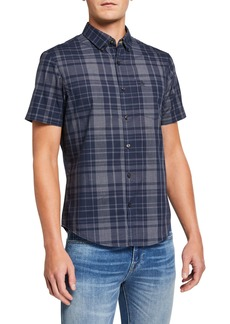 Original Penguin Men's Plaid Short-Sleeve Sport Shirt