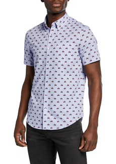 Original Penguin Men's Printed Vespa Sport Shirt