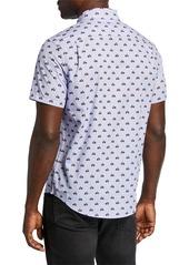 Original Penguin Men's Printed Vespa Sport Shirt