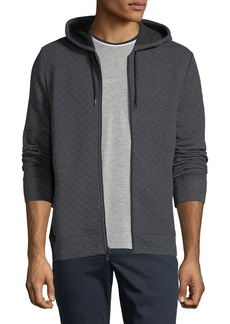 Penguin Men's Quilted Zip-Front Hoodie