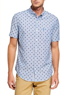 Original Penguin Men's Retro Records Chambray Sport Shirt