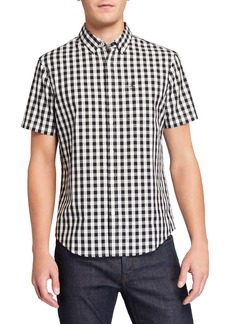 Original Penguin Men's Short-Sleeve Buffalo Check Woven Shirt