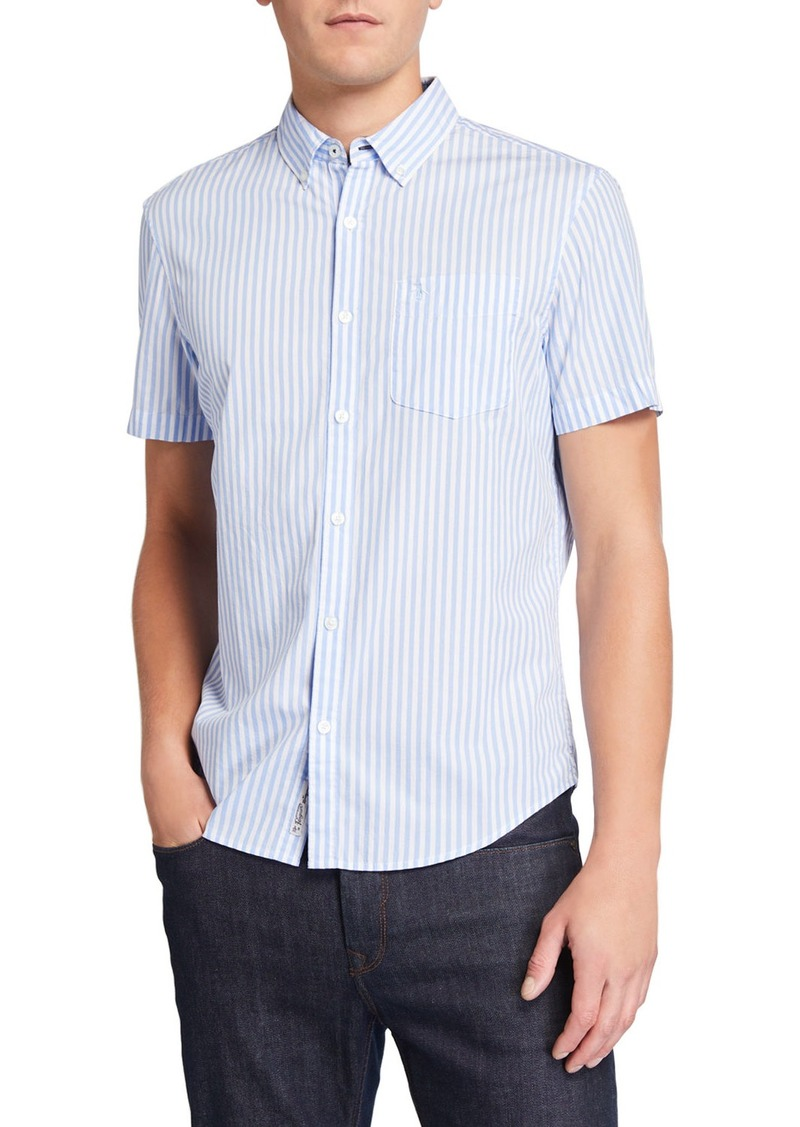 Original Penguin Men's Short-Sleeve Gingham Woven Shirt