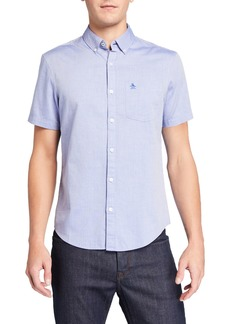 Original Penguin Men's Short-Sleeve Herringbone Sport Shirt