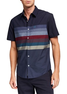 Original Penguin Men's Short-Sleeve Horizontal Engine