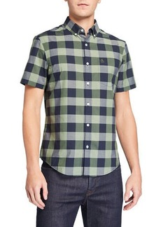 Original Penguin Men's Short-Sleeve Plaid Sport Shirt