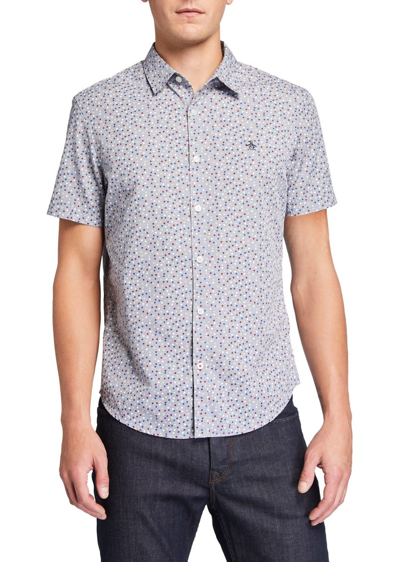 Original Penguin Men's Short-Sleeve Polka-Dot  Shirt