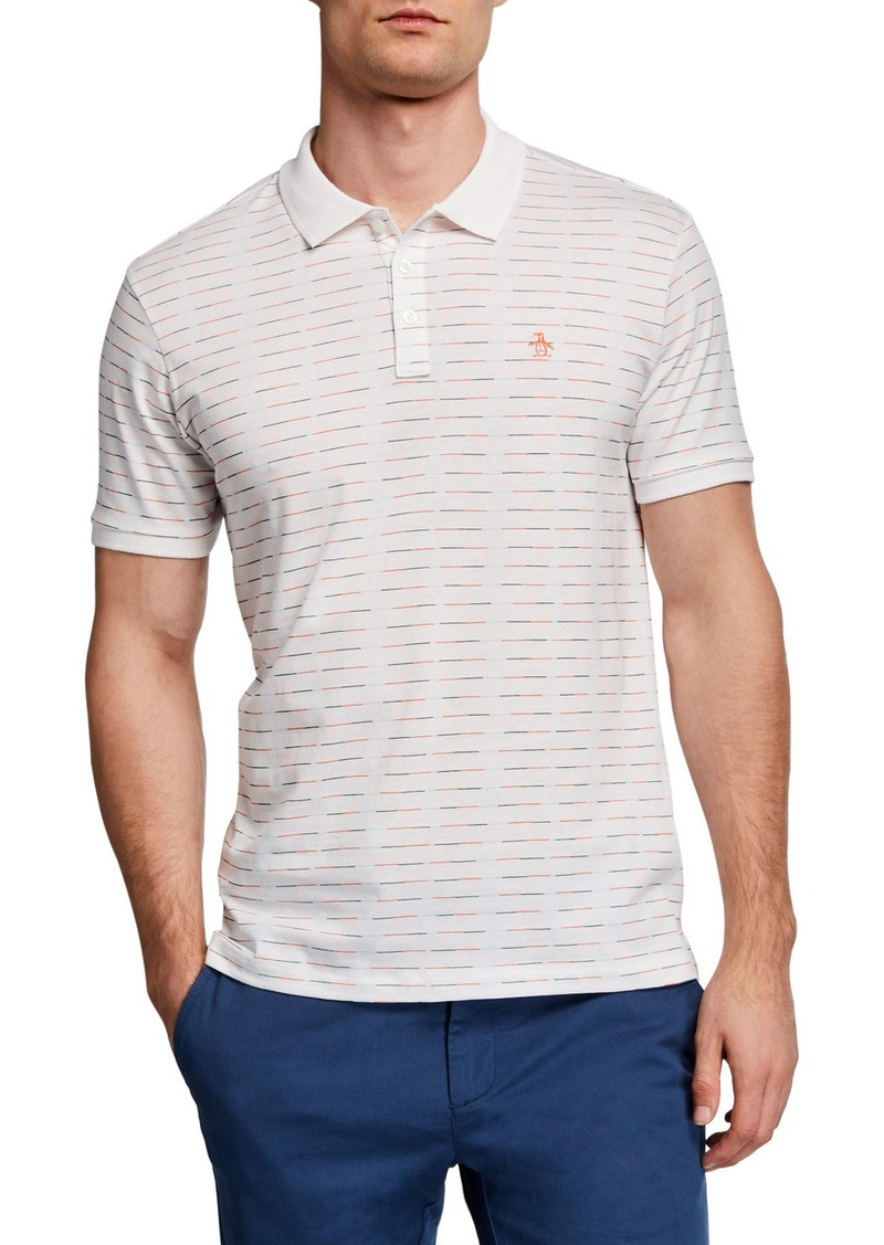 Original Penguin Men's Short-Sleeve Printed Space Dye Polo Shirt