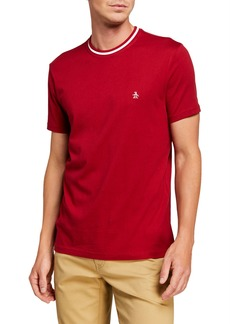 Original Penguin Men's Striped-Collar Jersey T-Shirt