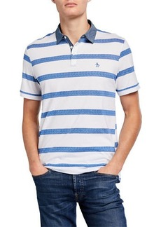 Original Penguin Men's Striped Jersey Polo Shirt