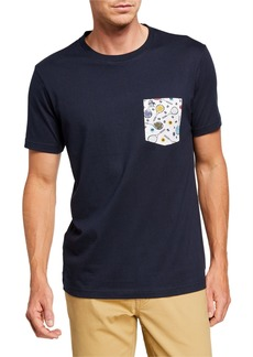 Original Penguin Men's Tennis Racket Pocket T-Shirt