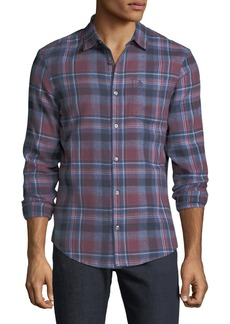 Penguin Men's Twisted Yard Plaid Flannel Sport Shirt
