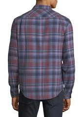 Original Penguin Men's Twisted Yard Plaid Flannel Sport Shirt