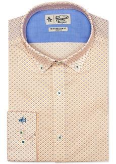 Original Penguin Men's Heritage Slim-Fit Comfort Stretch Flower Print Dress Shirt