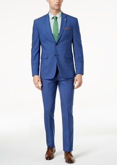 Closeout! Original Penguin Men's Slim-Fit Stretch Bright Blue Suit
