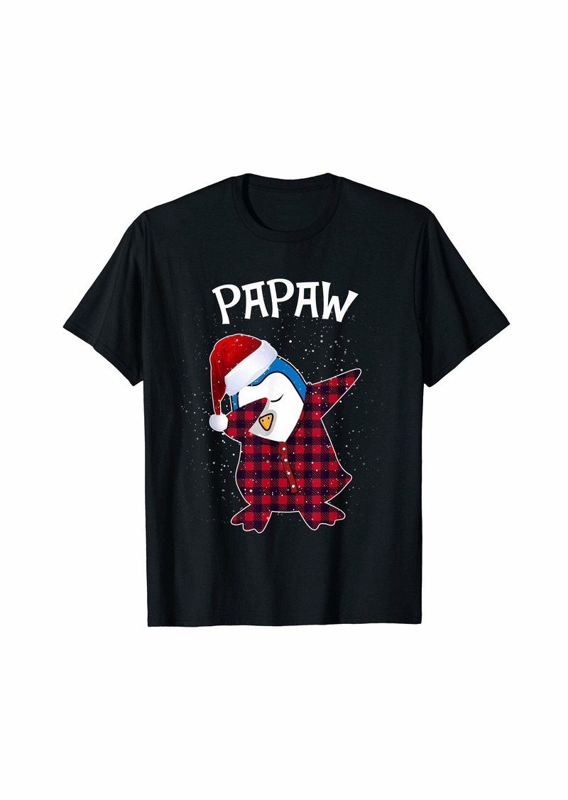 Papaw Penguin Pajamas Ugly Christmas PJ Xmas Gift T-Shirt