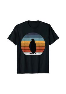 Penguin Animal Retro Vintage Sunset Penguin Design T-Shirt