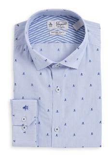 Penguin Blue Octopus Button-Down Dress Shirt