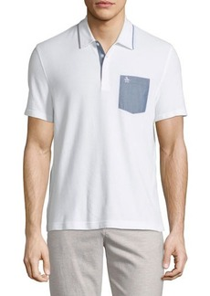 Penguin Chambray-Pocket Polo Shirt