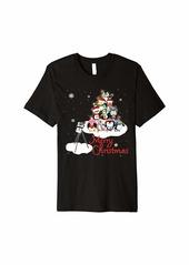 Penguin Christmas Tree Merry Christmas gift Xmas Premium T-Shirt