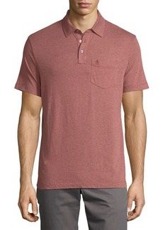 Penguin Cotton-Blend Marled Polo Shirt