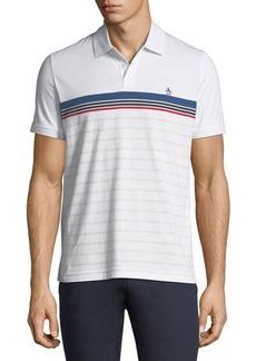 Penguin Engineered-Stripe Jersey Polo Shirt