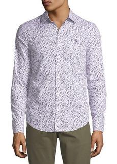 Penguin Floral-Print Long-Sleeve Sport Shirt