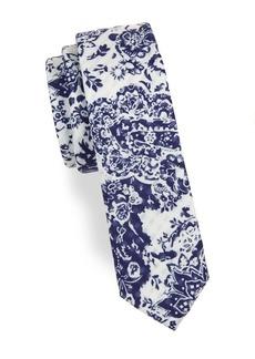 Penguin Floral Tie
