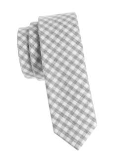 Penguin Gingham Cotton Slim Tie