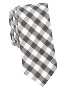 Penguin Gingham Cotton Tie