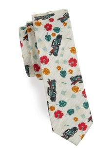 Penguin Graphic Cotton Tie