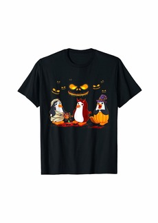 Penguin Happy Halloween T-shirt Cute Mummy Witch Pumpkin T-Shirt
