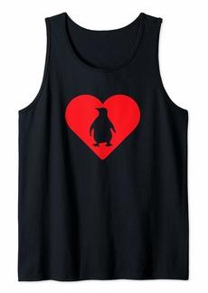 Penguin Heart Love Cute Penguin Lovers Tank Top