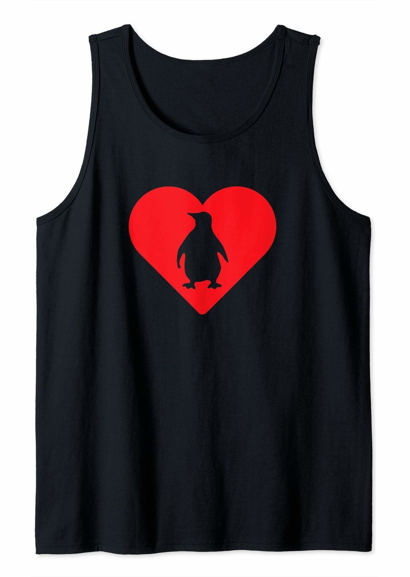 Penguin Heart Love Cute Penguin Lovers Tank Top
