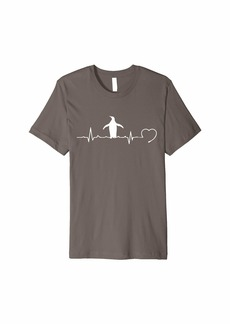 Penguin Heartbeat Funny Rhythm EKG Animal Lover Gift Premium T-Shirt