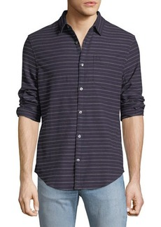 Penguin Heathered-Stripe Flannel Shirt