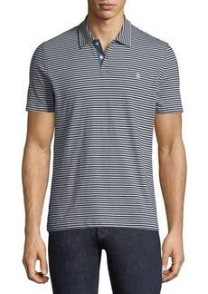 Penguin Heathered-Stripe Polo Shirt