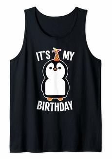 Penguin It's My Birthday Tank Top