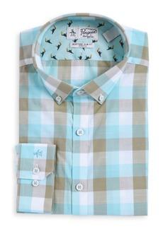 Penguin Plaid Button-Down Dress Shirt
