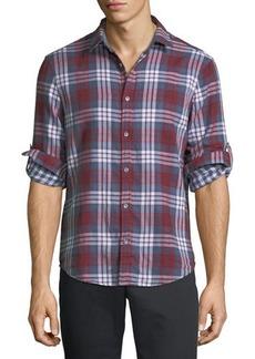 Penguin Plaid Flannel Button-Front Shirt