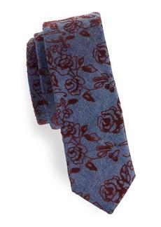 Penguin Polke Floral Cotton Tie