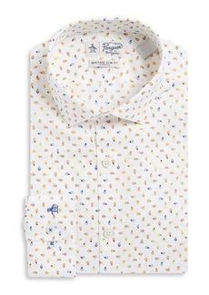 Penguin Printed Cotton Dress Shirt