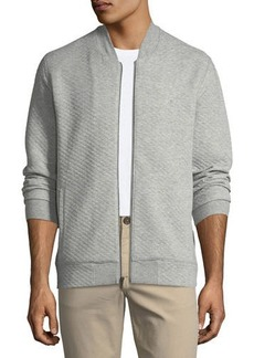 Penguin Quilted Knit Bomber Jacket