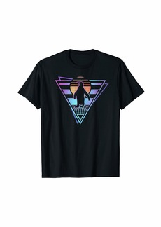 Penguin Retro 80s EDM Synthwave Gift T-Shirt