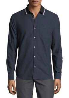 Penguin Ribbed-Collar Oxford Shirt