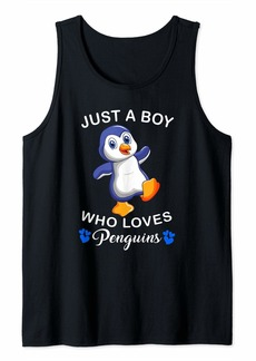 Penguin Shirt Just A Boy Who Loves World Penguin Day Tank Top