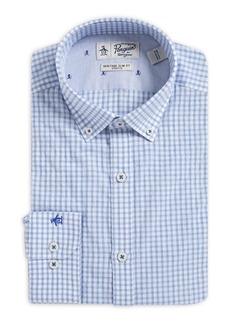 Penguin Slim-Fit Check Button-Collar Dress Shirt