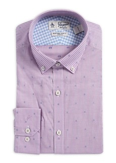 Penguin Slim-Fit Dobby Gingham Button-Collar Dress Shirt