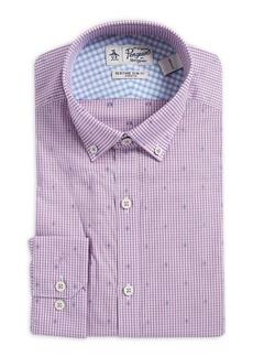 Penguin Slim-Fit Dobby Gingham Button-Collar Dress Shirt